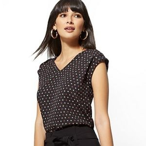 New York and Company Dot Blouse